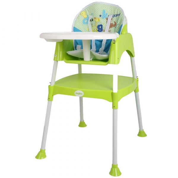 Buy Baybee Little Miracle Beautiful-The Convertible Baby High Chair Study Table Feeding Chair (With Cushion) - Green