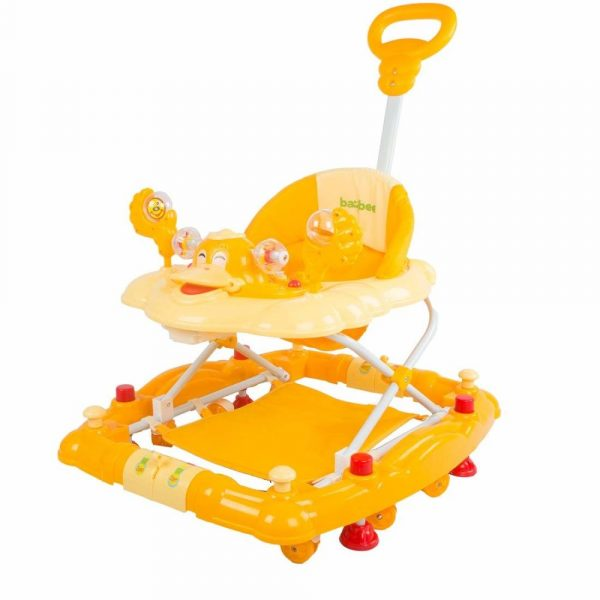 Buy Baybee Cheezy Walker cum Rocker | Music & Light Function With 3 Position Height Adjustable with Control Push Bar ( Yellow )