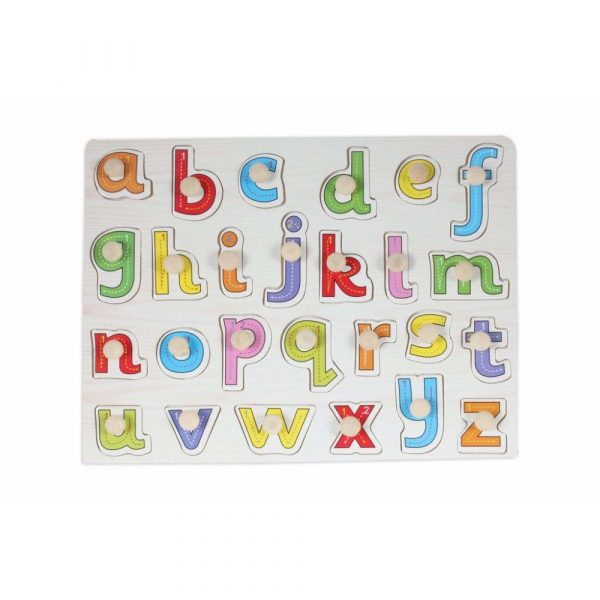 Buy Baybee Wooden Alphabet Puzzle with knobs (Small letters)
