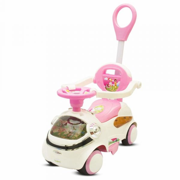 Buy Baybee - Veloso T3 Ride On Car Toy I Ages 3 yrs and Up I No batteries, Gears I with Parent Push Rod I Suitable For Boys & Girls ( Pink )