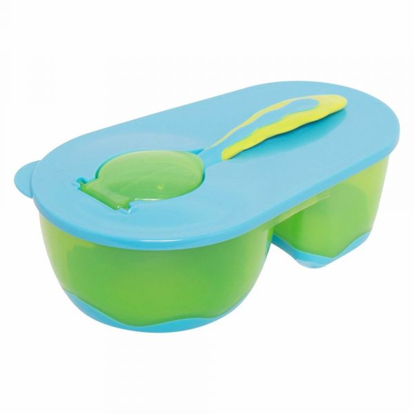 Buy Baybee Baby Feeding Bowl with Spoon (Green/Blue)