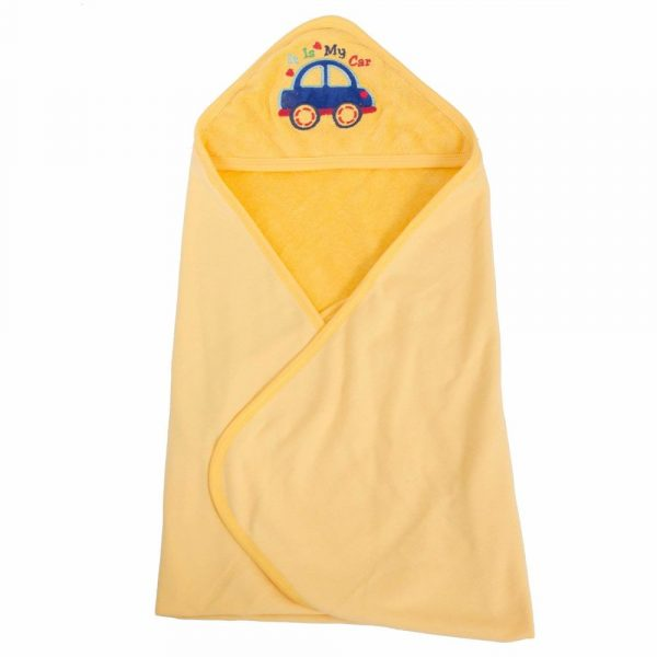 Buy Baybee Ultra Soft Organic Premium Cotton Baby Towel |Unique and Joyful Cartoon Design | Sized for Infant and Toddler (Yellow)