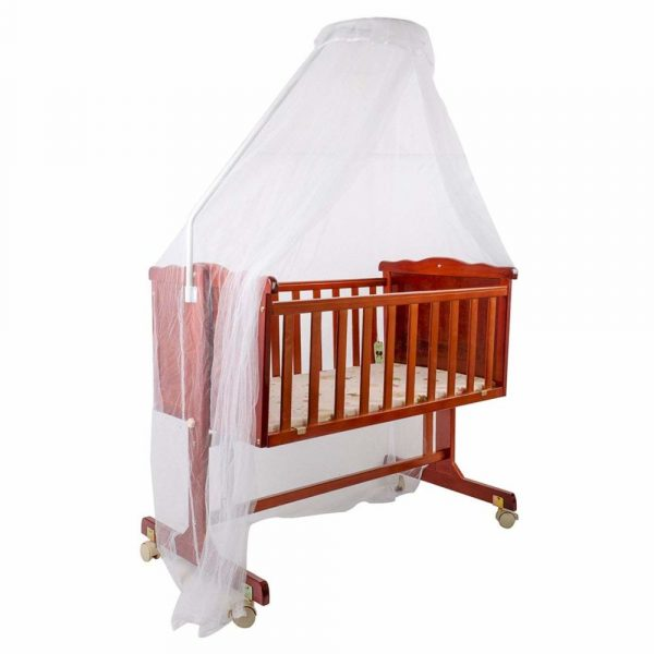 Buy Baybee Premium Quality Handcrafted Elegant Wooden Cradle | Comfort Wood On Point Bassinet