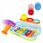 Buy Baybee - Funbee Musical Toy Xylophone Piano Pounding Bench with Multi-Color Balls and Hammer
