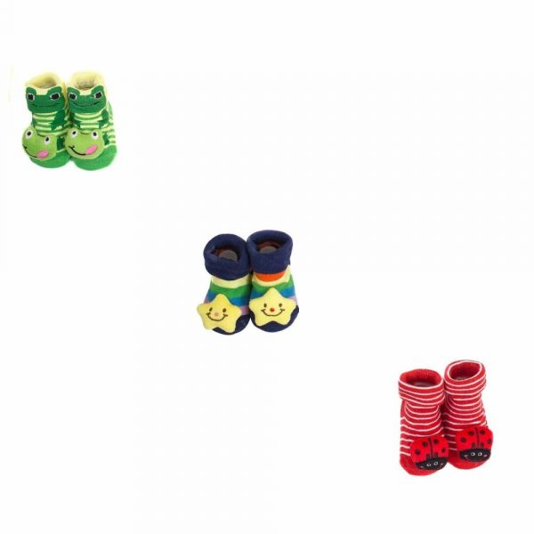 Buy Baybee Cute 3D Cartoon Face Booties Baby Booties Sock Slipper Shoes for Baby Girl and Boy 0-12 Months Random Colors