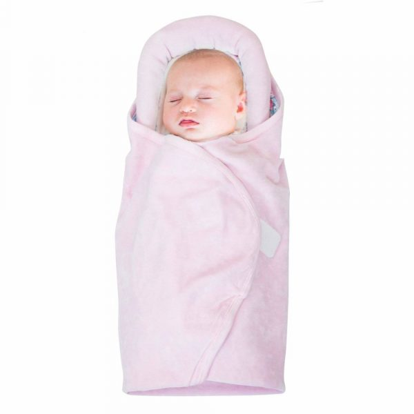 Buy Baybee - Snuggle Pod Baby Wrap Swaddle | Blanket, Feather Light | Soft Thick Warm Fleece Velcro Sleeping Bag for Soft Neutral boy or girl 0-24 Months ( Pink )