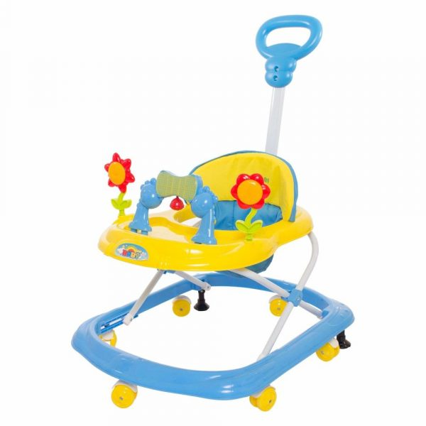 Buy Baybee - Kenny Walker Cum Rocker | Music & Light Function with Parant Control Push Bar and Stopper, Easy to Fold, Fun Toys & Activities for Baby (Yellow)