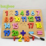 Buy Baybee Premium Wooden 20 Number Peg 1-20 Intelligence Toys Puzzle