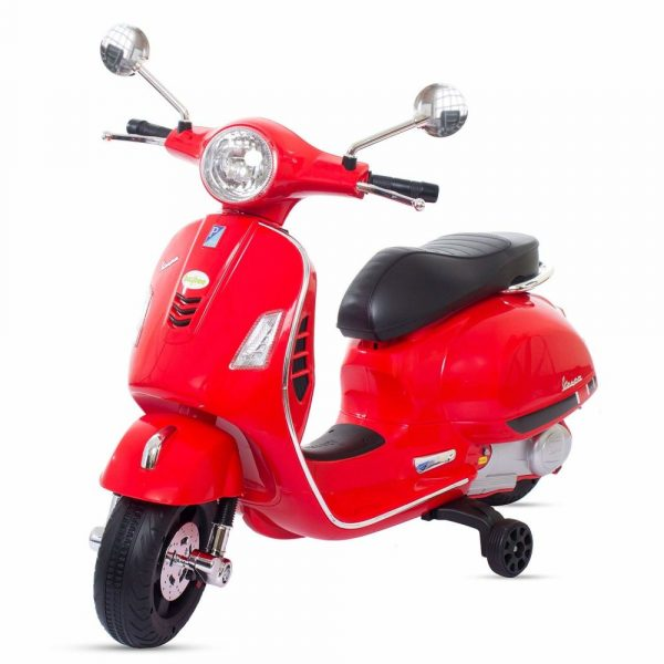 Buy Baybee Baby Scooter Officially Licensed Vespa Battery Operated Ride on Bike with MP3/USB/TF Music | Headlights with 35kg in Weight- Red