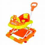 Buy Baybee - Forza Walker Cum Rocker   Music & Light Function with Control Push Bar, Stopper, Easy to Fold, Fun Toys & Activities for Baby (Orange)