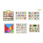 Buy Baybee Premium Wooden Puzzles -Set of 6 for Attractive Price Discount-Small Alphabet Letters