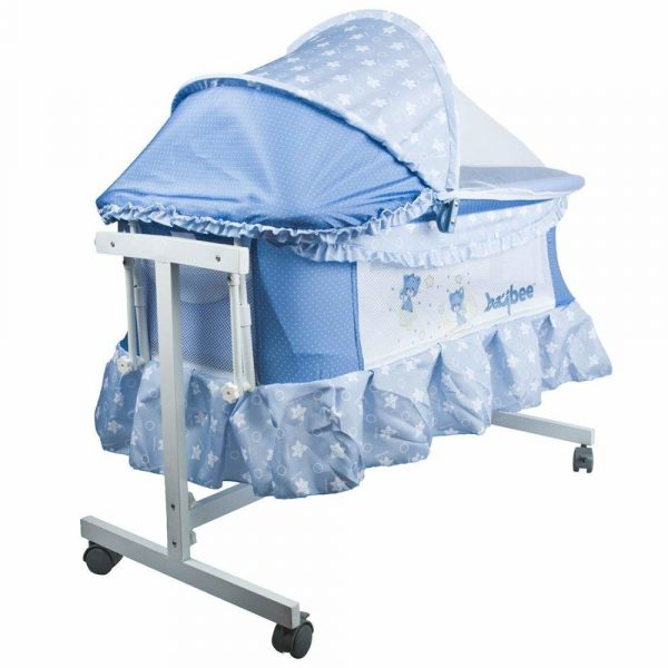 Buy Baybee LittleNest Bassinet Cradle with Mosquito Net-Canopy and Wheels_