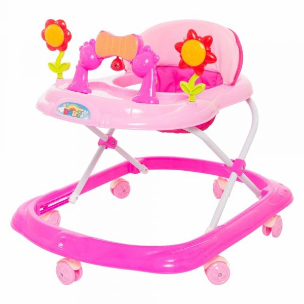Buy Baybee - Bonnie Walker Cum Rocker | Music & Light Function | Easy to Fold, Fun Toys & Activities for Baby (Pink)