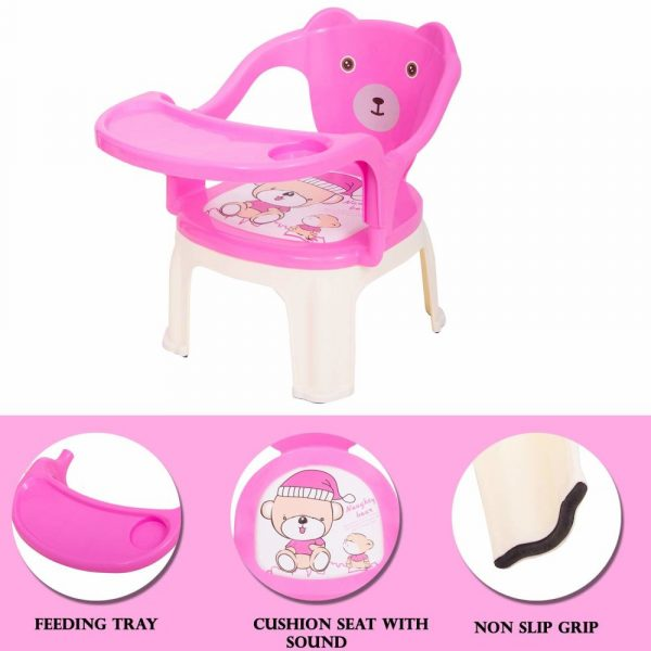 with Tray Strong and Durable Plastic Chair for Kids/Plastic School Study Chair/Feeding Chair for Kids