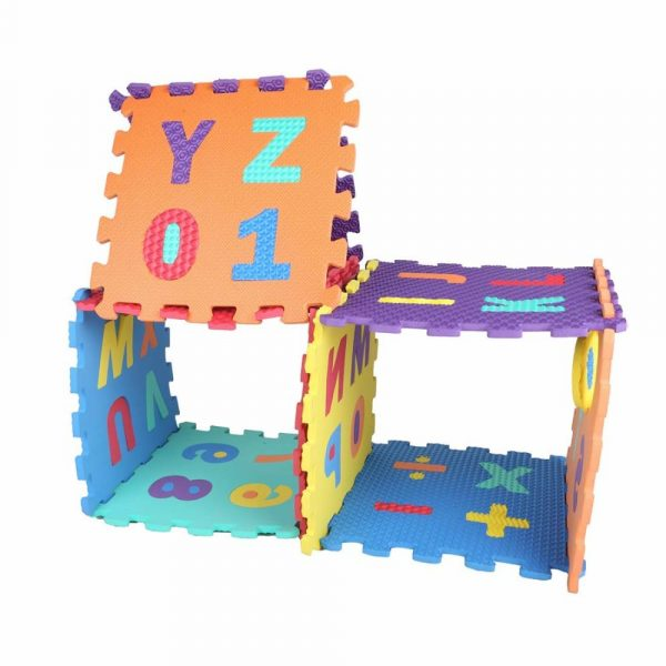Buy Baybee Premium Multi-Color EVA Mats for Kids- 10 PCs- A to Z Aplhabet & 0 to 9 Numbers- and Colors May Vary (1 Feet x 1 Feet Single- 10 PCs Kit)