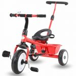 Buy Baybee Spectra Plug and Play Kid's Tricycle with Parental Adjust Push Handle (Red