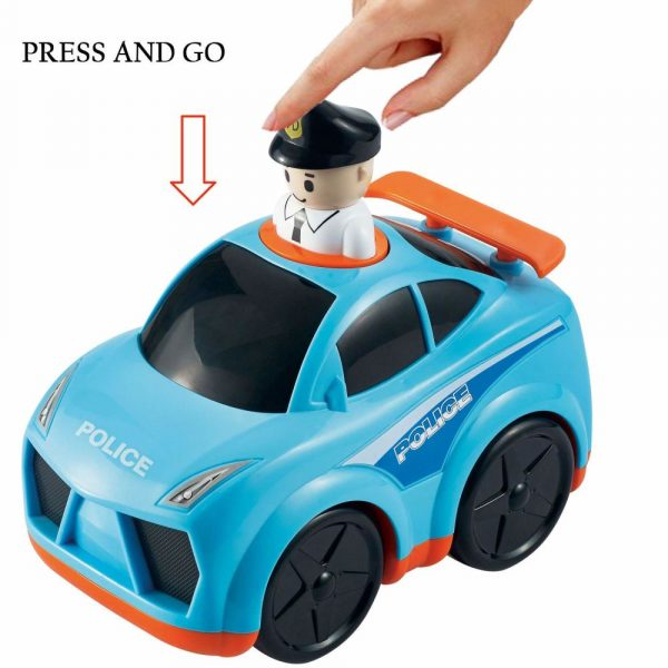 Buy Baybee Infunbebe Unbreakable Press and Go Police Car Toy for Baby Development
