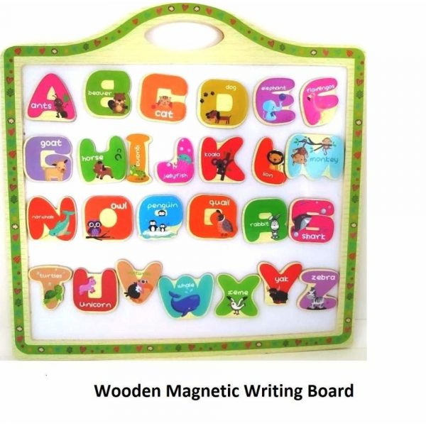Buy Baybee Educational Toy Wood Alphabet Magnetic Letters Animals Set | Learning Wooden Puzzle for Kids