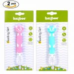Buy Baybee Baby Feeding Spoon Soft Silicone Spoon Tip Heat Sensitive Pack of 2