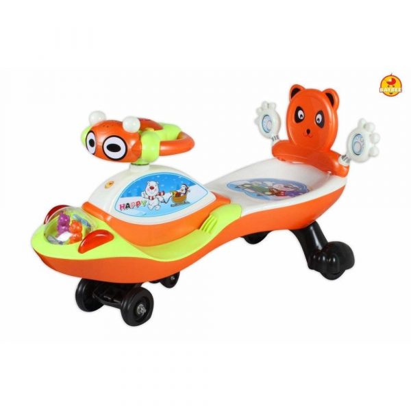 Buy Baybee Piglet Magic Car Free Wheel Magic Car with Music | Push Car Ride on Car for Kids for 3 to 8 Years ( Orange )