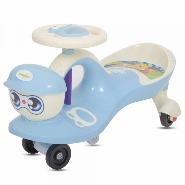 Buy Baybee Baby Swing Magic Car Free Wheel Magic Car with Storage Bin and Music | Push Car Ride on Car for Kids for 2 to 5 Years-Blue
