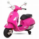 Buy Baybee Baby Scooter Officially Licensed Vespa Battery Operated Ride on Bike with MP3/USB/TF Music | Headlights with 35kg in Weight- Pink