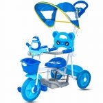 Buy Baybee Heyron Tricycle for Baby with Canopy and Parent Control ( Blue )
